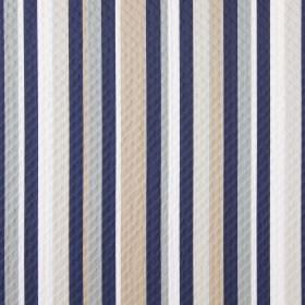 Downtown - Harbour - Peach, navy blue, light grey and white striped fabric