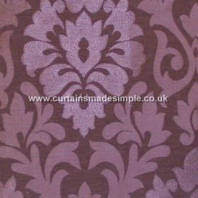 Coba - Amethyst - Amethyst purple fabric with classic foliage pattern
