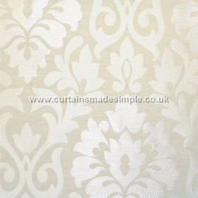 Coba - Natural - Natural white fabric with classic foliage pattern