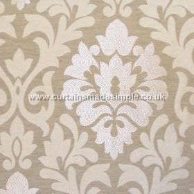 Coba - Linen - Linen grey fabric with classic foliage pattern