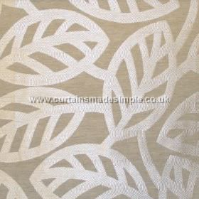Maya - Linen - Modern minimalistic foliage pattern on linen grey fabric