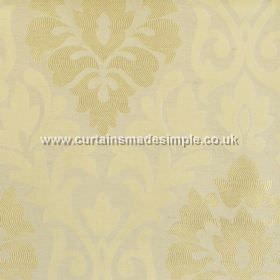 Coba - Champagne - Champagne yellow fabric with classic foliage pattern