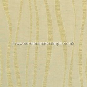 Chicanna - Champagne - Champagne yellow fabric with wavey stripes