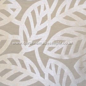 Maya - Stone - Modern minimalistic foliage pattern on stone grey fabric
