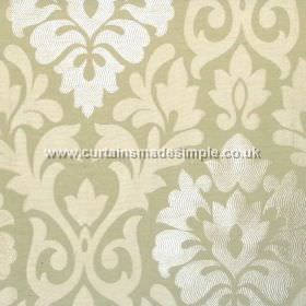 Coba - Apple - Apple green fabric with classic foliage pattern