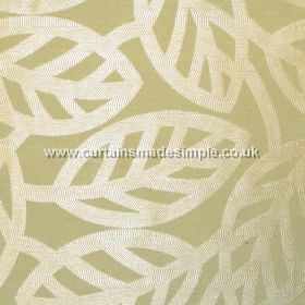 Maya - Apple - Modern minimalistic foliage pattern on apple green fabric