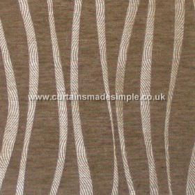 Chicanna - Tobacco - Tobacco brown fabric with wavey stripes