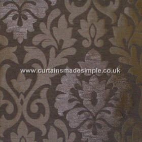 Coba - Ebony - Ebony black fabric with classic foliage pattern