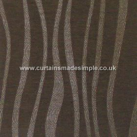 Chicanna - Ebony - Ebony black fabric with wavey stripes