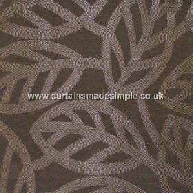 Maya - Ebony - Modern minimalistic foliage pattern on ebony black fabric