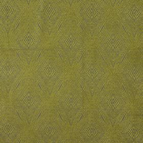 Iona - Citrus - Sandy fabric with citrus yellow coarse diamond shapes for a modern design