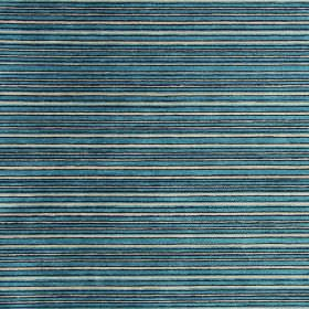 Kimi - Aqua - Aqua blue and white striped fabric