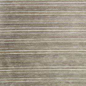Kimi - Stone - Stone grey and black striped fabric