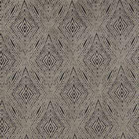 Iona - Mole - Mole brown fabric with light brown coarse diamond shapes for a modern design