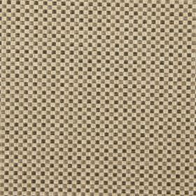 Alexa - Mole - Modern mole brown and sandy chequered fabric