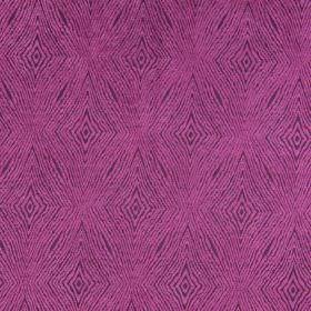 Iona - Berry - Dark purple fabric with berry pink coarse diamond shapes for a modern design