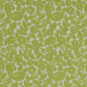 Arabella - Citrus - Classic citrus yellow flower design on white fabric