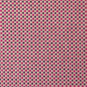 Alexa - Berry - Modern berry pink and brown chequered fabric