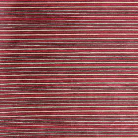 Kimi - Cardinal - Cardinal red and sandy striped fabric