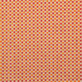 Alexa - Cardinal - Modern cardinal red and orange chequered fabric