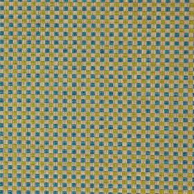 Alexa - Citrus - Modern citrus green and blue chequered fabric