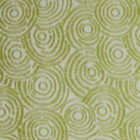 Koko - Citrus - White fabric with citrus yellow circle impressions