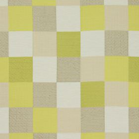 Como - Citrus - Citrus yellow and white checked fabric