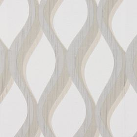 Bari - Champagne - Champagne grey vertical waves on white fabric
