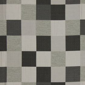 Como - Noire - Noire black and grey checked fabric