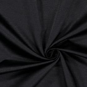 Alba - Noire - Plain noire black fabric