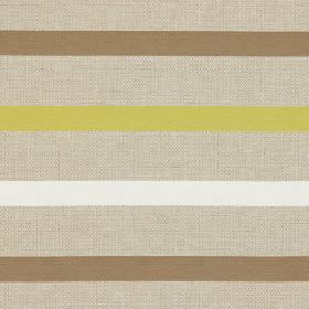 Strada - Citrus - Citrus yellow stripes on light brown fabric