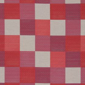 Como - Berry - Berry purple and red checked fabric