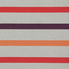 Strada - Berry - Berry purple stripes on white fabric