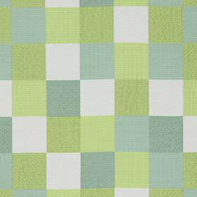 Como - Aquamarine - Aquamarine blue and green checked fabric