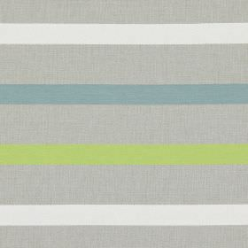 Strada - Aquamarine - Aquamarine blue stripes on grey fabric