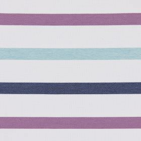 Strada - Amethyst - Amethyst purple stripes on white fabric