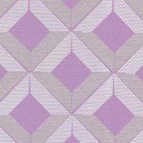Lucca - Amethyst - White cross-hatched lines on amethyst fabric