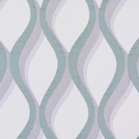 Bari - Amethyst - Amethyst purple vertical waves on light sandy fabric