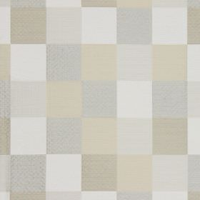 Como - Champagne - Champagne gold and white checked fabric