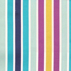 Biarritz - Jewel - Bright blue and pink even striped fabric