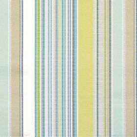 Monaco - Pistachio - Pale green and blue mixed striped fabric