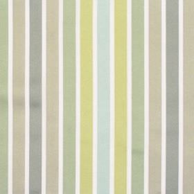 Biarritz - Pistachio - Pale green and grey even striped fabric