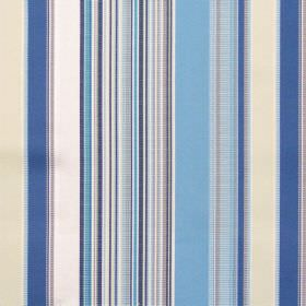 Monaco - Cobalt - Blue mixed stripe fabric