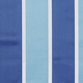 Riviera - Cobalt - Blue wide striped fabric
