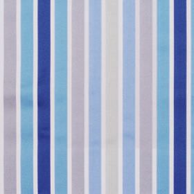 Biarritz - Cobalt - Bright blue and grey even striped fabric