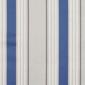 San Remo - Cobalt - Grey fabric with white and blue stripes