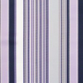 Monaco - Mist - Grey and lilac mixed stripe fabric