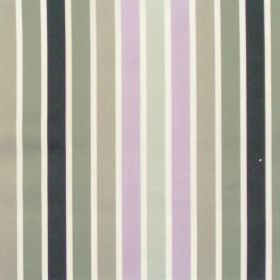 Biarritz - Mist - Lilac and grey even striped fabric