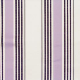 San Remo - Mist - White and purple stripey fabric