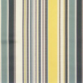 Monaco - Saffron - Grey and yellow mixed stripe fabric
